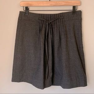 Gap pleated front grey wool blend mini skirt bow 4